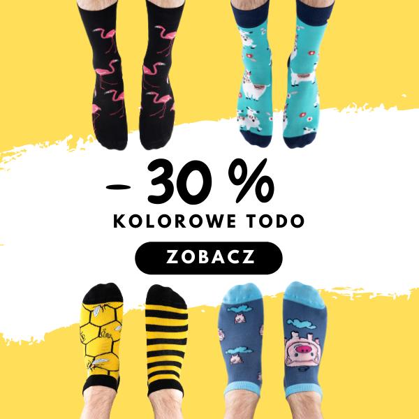 -30% na Kolorowe Skarpetki Todo Socks