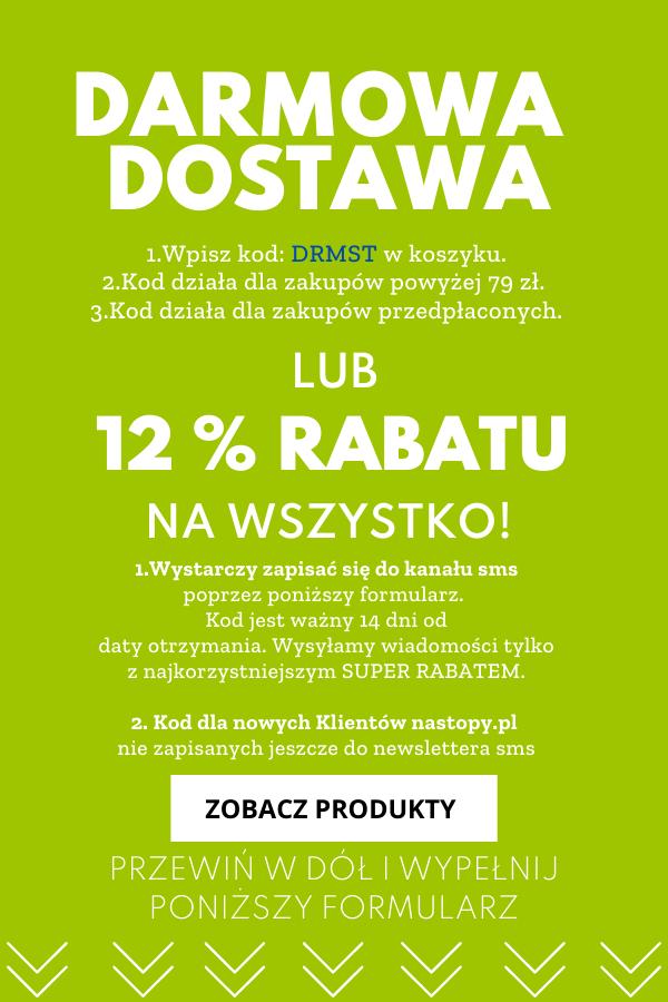-12% lub Darmowa Dostawa