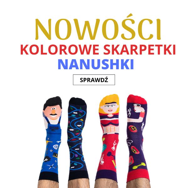 Nowości Kolorowe Skarpetki Nanushki