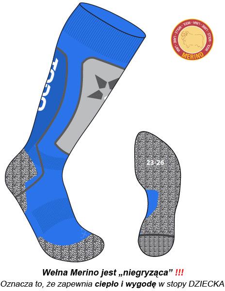 ciepłe skarpety narciarskie dla dzieci