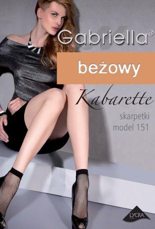 Skarpetki Kabarette Kabaretki model: 151 - beżowy
