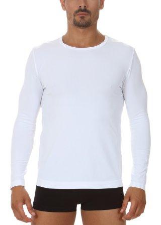 Koszulka Męska Termoaktywna z DŁUGIM rękawem. Elastyczna - Bianco
