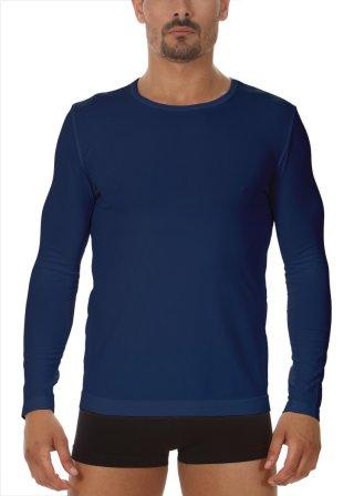 Koszulka Męska Termoaktywna z DŁUGIM rękawem. Elastyczna - Blu