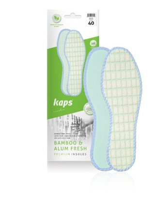 Wkładki do butów bambusowe. Bamboo & Alum Fresh - naturale