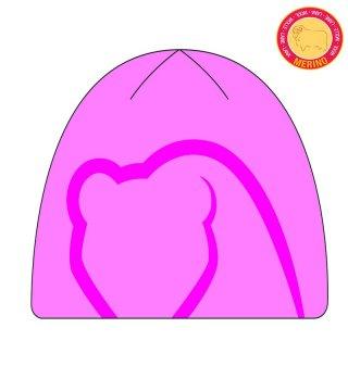 Czapka Zimowa BRBL FIREWOOD, dla Dzieci, Ciepła, Termoaktywna, 50% Wełna Merino - różowy