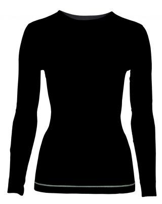 f940a21cca14b7 Bielizna Termoaktywna KOSZULKA Damska BRBL FALORIA ciepła 74% Wełna Merino,  - czarna róż -