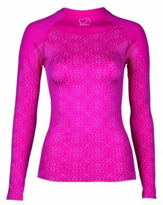 Koszulka damska termoaktywna BRBL MACALU elastyczna Najwyższy Level - różowy