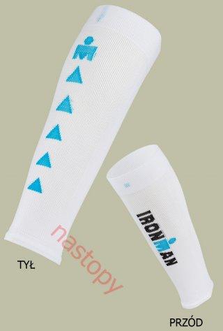 Ironman CALFGUARD PRO opaski kompresyjne BREEZE Chłodzące - biały