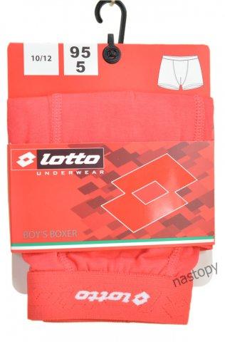 Bokserki chłopięce LOTTO wygodne, elastyczne,logo 3D, 95% Bawełna - czerwony