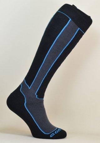 Skarpety Narciarskie SKI CARVE - komfortowe i ciepłe - czarno-niebieski