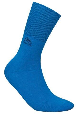 Skarpety Bezuciskowe DEOMED COTTON JJW dezodorant, zdrowotne, bawełniane - niebieski
