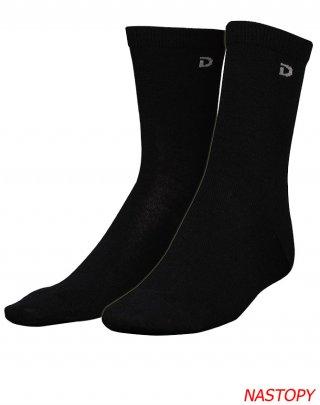 Skarpety klasyczne wełniane DILLING DK, termoaktywne, komfortowe 80% WEŁNA MERINO - czarny