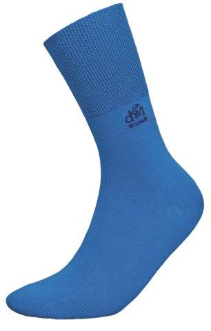 Skarpety Deomed Cotton SILVER zdrowotne, bezuciskowe, bawełniane  - niebieski