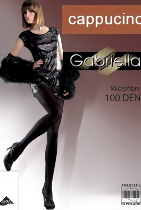 Gładkie Rajstopy Microfibre (100den) - cappucino