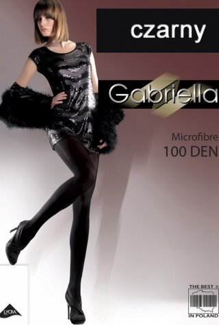 Gładkie Rajstopy Microfibre (100den) - czarny