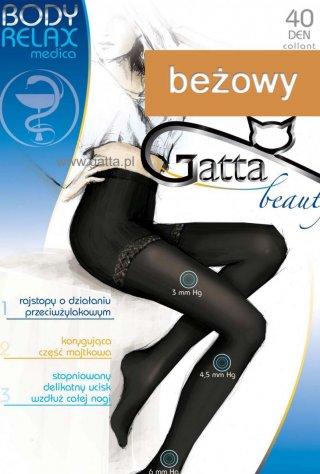 Rajstopy Body Relax (40den) - nogi odpoczywają - beżowy