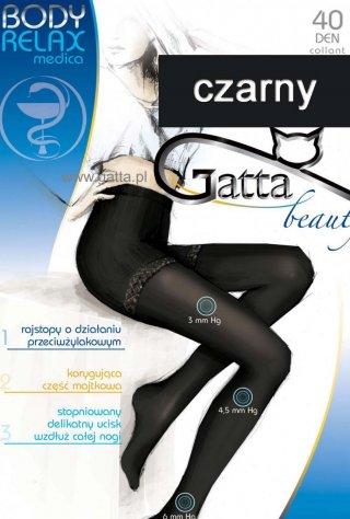 Rajstopy Body Relax (40den) - nogi odpoczywają - czarny