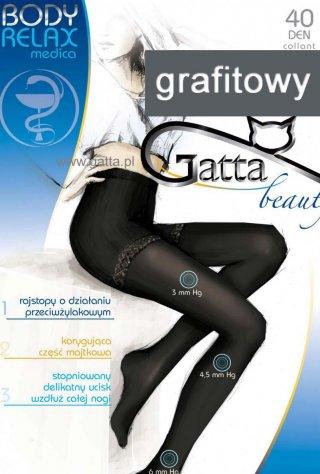 Rajstopy Body Relax (40den) - nogi odpoczywają - grafitowy