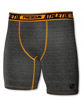 Termoaktywne bokserki ACTIVE z dłuższymi nogawkami - idealne do sportu - grafitowo-pomarańczowy