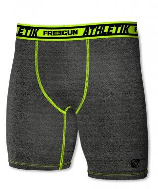 Termoaktywne bokserki ACTIVE z dłuższymi nogawkami - idealne do sportu - grafitowo-zielony