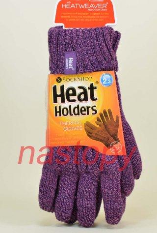 Rękawiczki Heat Holders Najcieplejsze na świecie DAMSKIE - fioletowy
