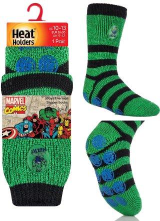Najcieplejsze skarpety ANTYPOŚLIZGOWE ABS dla chłopców, Spiderman, Minionki, Gwiezdne Wojny, Hulk - Hulk