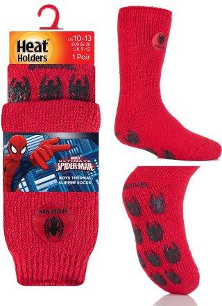 Najcieplejsze skarpety ANTYPOŚLIZGOWE ABS dla chłopców, Spiderman, Minionki, Gwiezdne Wojny, Hulk - Spiderman