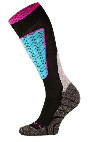 DZIECIĘCE skarpety narciarskie SK1  KIDS, ciepłe i komfortowe 5 kolorów  - czarny i niebieski