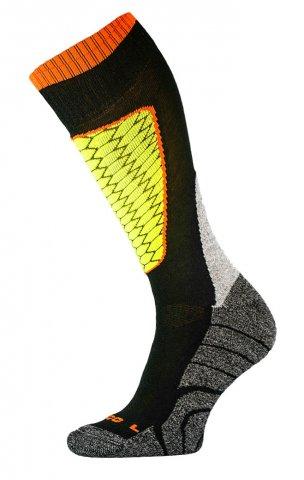 DZIECIĘCE skarpety narciarskie SK1  KIDS, ciepłe i komfortowe 5 kolorów  - czarny i żółty