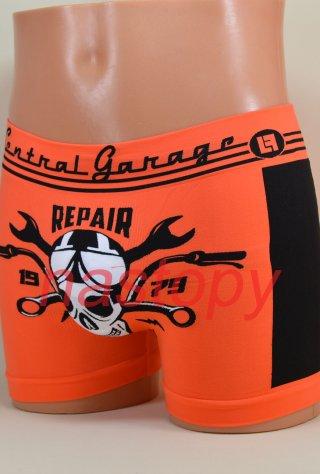 Włoskie Męskie BOKSERKI Śmieszne Wzory - oddychające - Garage Orange