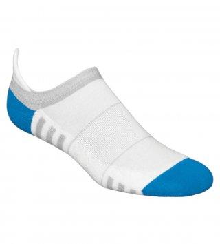 Stopki sportowe damskie MINI FITNESS DEODORANT antybakteryjne, bawełniane - biało-niebieski