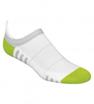 Stopki sportowe damskie MINI FITNESS DEODORANT antybakteryjne, bawełniane - biało-zielony