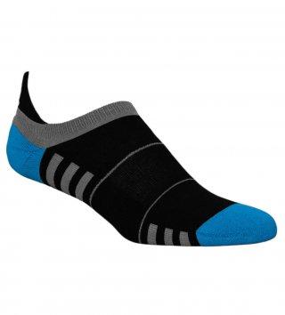 Stopki sportowe damskie MINI FITNESS DEODORANT antybakteryjne, bawełniane - czarno-niebieski