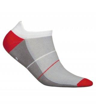 Skarpety Stopki Sportowe MINI SPORT DEODORANT antybakteryjne, niskie, bawełna - szaro-biało-czerwony