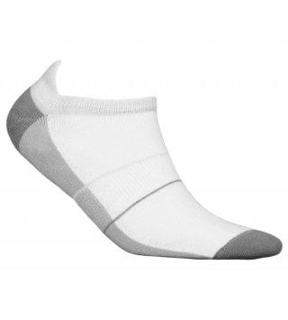 Skarpety Stopki Sportowe MINI SPORT DEODORANT antybakteryjne, niskie, bawełna - biało-szary