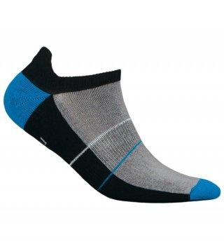 Skarpety Stopki Sportowe MINI SPORT DEODORANT antybakteryjne, niskie, bawełna - czarno-niebieski