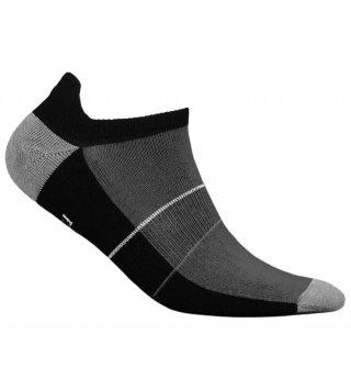 Skarpety Stopki Sportowe MINI SPORT DEODORANT antybakteryjne, niskie, bawełna - czarno-szary