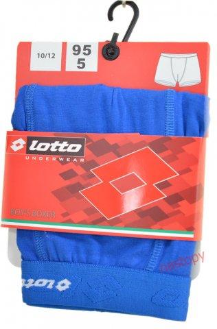 Bokserki chłopięce LOTTO wygodne, elastyczne,logo 3D, 95% Bawełna - niebieski