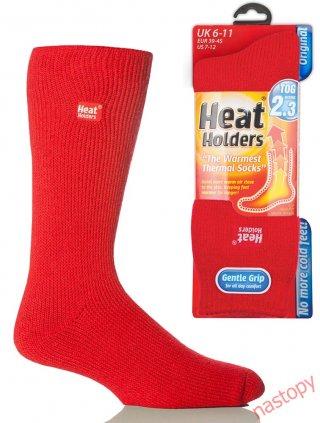 Najcieplejsze Skarpety na świecie HEAT HOLDERS CLASSIC Męskie, super ciepłe, na Mrozy - czerwony