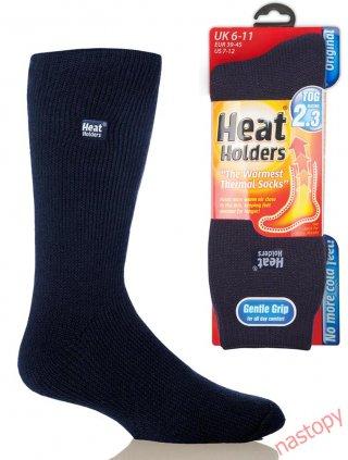 Najcieplejsze Skarpety na świecie HEAT HOLDERS CLASSIC Męskie, super ciepłe, na Mrozy - granatowy