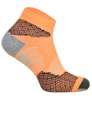 Skarpety biegowe RUNNING RAID kolorowe, oddychające, płaskie szwy - pomarańczowy