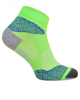 Skarpety biegowe RUNNING RAID kolorowe, oddychające, płaskie szwy - zielony