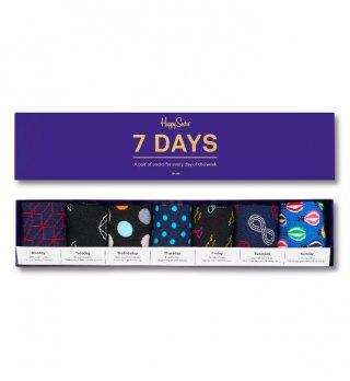 Skarpety Happy Socks 7 days (7-pak) na każdy dzień tygodnia - różnokolorowe