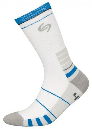Skarpetki SPORT DEODORANT NEW, sportowe, idealne na co dzień, Bawełna - biało-niebieski