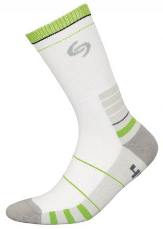 Skarpetki SPORT DEODORANT NEW, sportowe, idealne na co dzień, Bawełna - biało-zielony