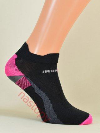 IronMan SPORT-X Lekkie Stopki dla AKTYWNYCH 6-kolorów - czarno-różowy