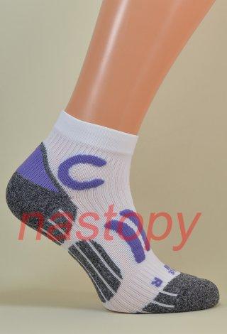 Quarter Sport Socks Anatomiczne Oddychające Włoskie - biały
