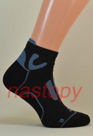 Quarter Sport Socks Anatomiczne Oddychające Włoskie - czarny