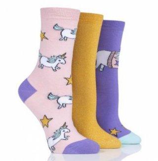 Kolorowe skarpety Wild Feet - JEDNOROŻEC - 3 pary !!! - T5001