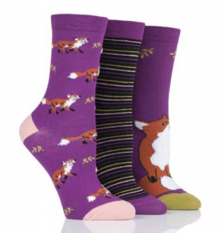 Kolorowe skarpety Wild Feet - RUDY LIS - 3 pary !!! - T5012